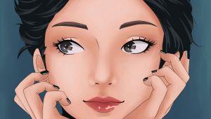 Anime Portrait Drawing Anime Manga Portrait Girl Cute Drawing Black Eyes