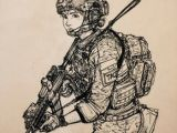 Army Drawing Easy Inktober 1 by Thomchen114 Military Drawings Military Art