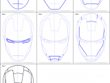 Avengers Drawing Ideas How to Draw Iron Man S Helmet Printable Step by Step Drawing