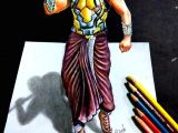 Bahubali 2 Cartoon Drawing Bahubali 2 Drawing Prabhas 3d Drawing Of Prabhas Realistic