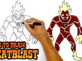 Bahubali 2 Cartoon Drawing How to Draw Heatblast Ben 10 Youtube