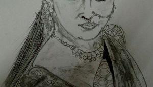 Bahubali 2 Easy Drawings Bahubali 2 Sketch Of Anushka Shetty Sketching Of Devsena