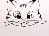 Basic Drawing Of A Cat Drawing A Cartoon Tabby Cat Face Art Lessons Pinterest