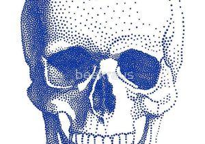 Basics Of Drawing Human Skulls Blue Human Skull Art Print by Beakraus In 2018 Halloween