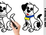 Beginner Easy Dog Drawing How to Draw A Dog A Cute Easy Drawings Tutorial for