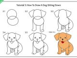 Beginner Easy Dog Drawing Sitting Dog Front Drawing Puppy Drawing Easy Puppy