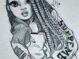 Black Hair Girl Draw Zeichnung Eines Madchens In Schwarzweiss Zeichnung Des