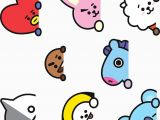 Bt21 Drawing Easy Bt21 Sticker Set Ver 2 Pegatina Stickers Bts Wallpaper
