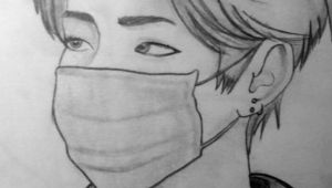 Bts V Drawing Cute Bts Bangtanboys Love Bts V Kimtaehyung Drawing Bts