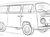 Bus Drawing Easy How to Draw A Vw Bus Step by Step Drawing Tutorials for
