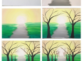 Canvas Drawings Easy How to Paint A Spring Tree Path Easy Canvas Painting