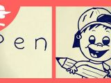 Cartoon Drawing Challenge How to Turn Word Pen Into A Cartoon Learn Drawing Art On Paper for