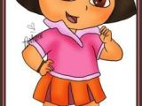 Cartoon Drawing Dora 16 Best Keep Your Kids Busy with Simple Cartoon Drawings Images
