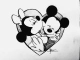 Cartoon Drawing Easy Mickey Mouse Cartoon Cute Disney Draw Love Mickey Minnie Rose I Love You