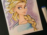 Cartoon Drawing Etsy Elsa Frozen Marker Drawing Let It Go Elsa Pinterest