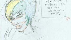 Cartoon Drawing Exercises John K Stuff Cartoonist Warm Up Exercises Girls Hair Drawing