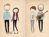 Cartoon Drawing Family Portrait Blanka Biernat Photography and Illustration Designs Illustrated