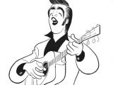 Cartoon Drawing Guitar Al Hirschfeld Elvis Hirschfeld Caricature Drawings Artist