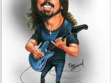 Cartoon Drawing Guitar Dave Grohl Limited Edition Celebrity Caricature by Don Howard by