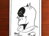 Cartoon Drawing History Batman Bob Kane Signed Drawing Amazing Own A Piece Of History
