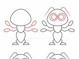 Cartoon Drawing Instructions How to Draw An Ant In 2019 Drawing Drawings Easy Drawings Art