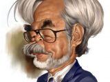 Cartoon Drawing Japanese Hayao Miyazaki Caricatures toons Mag Caricatures Pinterest