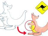 Cartoon Drawing Kangaroo How to Draw Kangaroo for Kids Kangaroo Cuteanimals Drawing