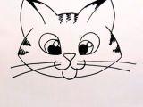 Cartoon Drawing Kitty Drawing A Cartoon Tabby Cat Face Art Lessons Pinterest