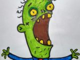 Cartoon Drawing Letters Re Draw Od A C Letter Zombie Drawings Pinterest Drawings and