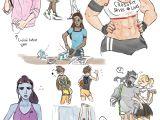 Cartoon Drawing Maker University Au Overwatch Overwatch Overwatch Comic Overwatch