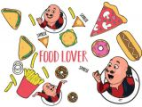 Cartoon Drawing Motu Patlu asian Paints Wall Ons Motu Patlu Xxl Yummy Food Lovers Cartoon