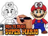 Cartoon Drawing Near Me How to Draw Super Mario Super Mario Odyssey Youtube