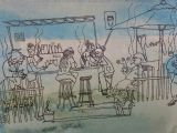 Cartoon Drawing Nz Postcards From Waiheke Exhibition In Auckland Nz M G Walker