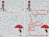 Cartoon Drawing Rainy Day Rainy Day Maze Stock Vector Art 492706800 istock