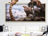 Cartoon Drawing Room Cartoon Lovely 0d Giraffes Wall Stickers Bedroom Living Room
