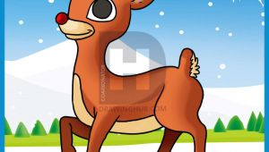 Cartoon Drawing Rudolph Red Nosed Reindeer How to Draw Rudolph the Red Nosed Reindeer Step by Step Drawing