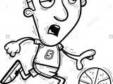 Cartoon Drawing Running Man A Cartoon Illustration Of A Man Basketball Player Running and
