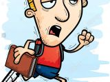 Cartoon Drawing Running Man A Cartoon Illustration Of A Man Student Running and Looking