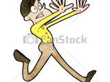 Cartoon Drawing Running Man Cartoon Man Running Away
