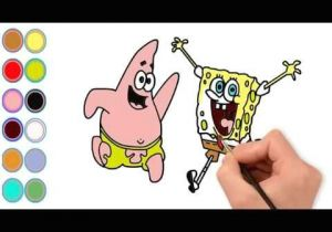 Cartoon Drawing Spongebob Draw Cartoon Spongebob and Color Cartoon Spongebob I Learn Color for