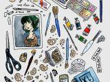 Cartoon Drawing Supplies Arlie Opal S Art Supplies Painting by Arlieopal Redbubble