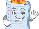 Cartoon Drawing Supplies King Notebook Character Cartoon Design Stock Vector Art