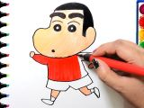 Cartoon Drawing Wala Draw Color Paint Shinchan Coloring Pages and Learn Colors for Kids