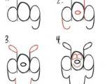 Cartoon Drawing with Numbers 440 Best Draw S by S Using Letters N Numbers Images Step by Step
