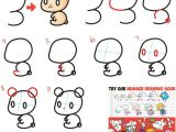 Cartoon Drawing with Numbers How to Draw Cute Chibi Kawaii Characters with Number 3 Shapes