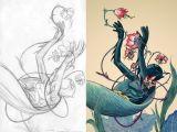 Cartoon Jeans Drawing James Jean Batgirl Illustration Pinterest Illustration Art
