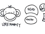 Cartoon Quilt Drawing How to Draw A Monkey Arts Crafts Pinterest Monkey Applique