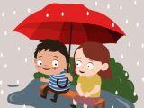 Cartoon Umbrella Drawing Childhood Drawing Little Boy Girl Rain Umbrella Icons Free Vector In
