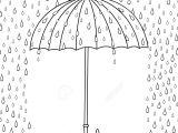 Cartoon Umbrella Drawing Outline Cute Cartoon Umbrella isolated On White Background Rainy
