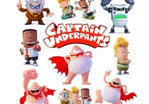 Cartoon Underpants Drawing Captain Underpants Invitation Decorations Cinema Digital Kid Party